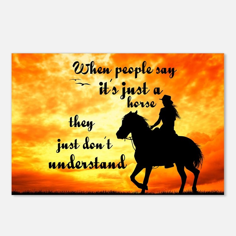 Just A Horse Postcards (package Of 8)