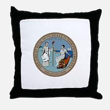 North Carolina State Seal Throw Pillow