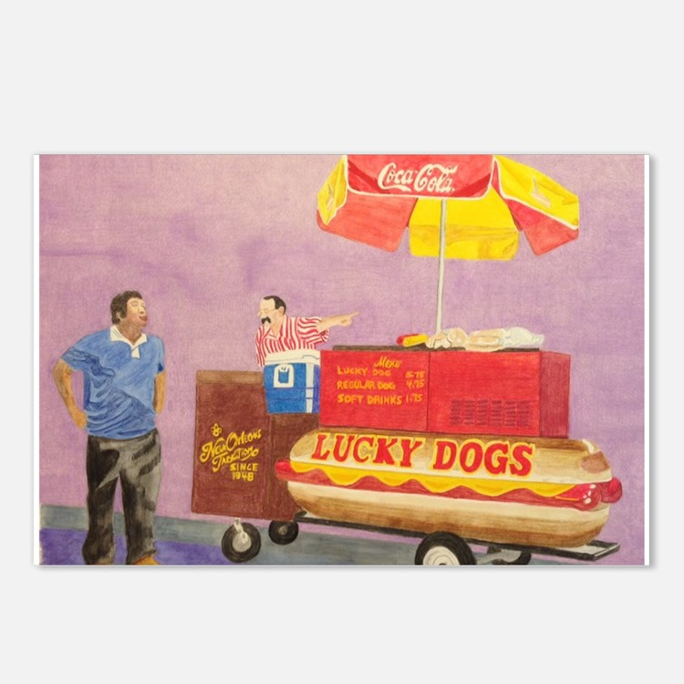 New Orleans Lucky Dog Cart Postcards (Package of 8