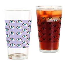 purple eyes Drinking Glass
