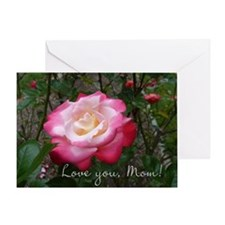 Love You Mom Rose Card Greeting Cards