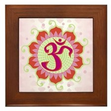 Lotus Aum Pink - Framed Tile