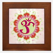 Lotus Aum Pink - Framed Tile