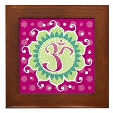 Lotus Aum Fuschia - Framed Tile