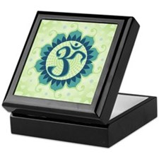Lotus Aum Green - Keepsake Box