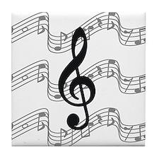 Unique Treble clef Tile Coaster