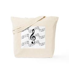 Cute Treble clef Tote Bag