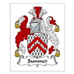 Sumner Family Crest Small Poster