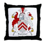 Sumner Family Crest Throw Pillow