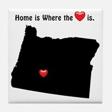 Home is Where the Heart Is Tile Coaster