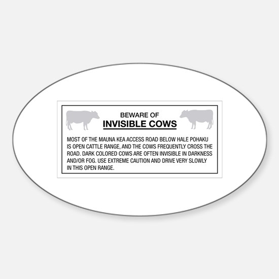Beware of Invisible Cows, Hawaii (US) Decal