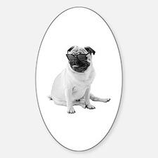 The Shady Pug Sticker (Oval)