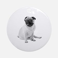 The Shady Pug Round Ornament