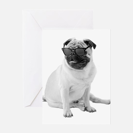 The Shady Pug Greeting Cards