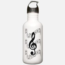 Cute Treble clef Water Bottle