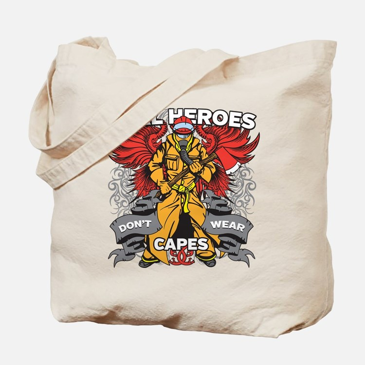 Real Heroes Firefighter Tote Bag