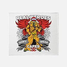 Real Heroes Firefighter Throw Blanket