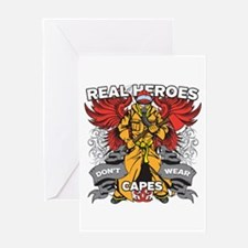 Real Heroes Firefighter Greeting Card