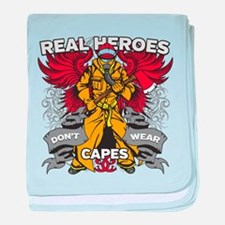 Real Heroes Firefighter baby blanket