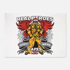 Real Heroes Firefighter 5'x7'Area Rug