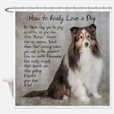 Real Love Sheltie Shower Curtain