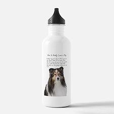 Real Love Sheltie Water Bottle