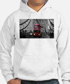 Lon Bus on Tower Bridge Hoodie