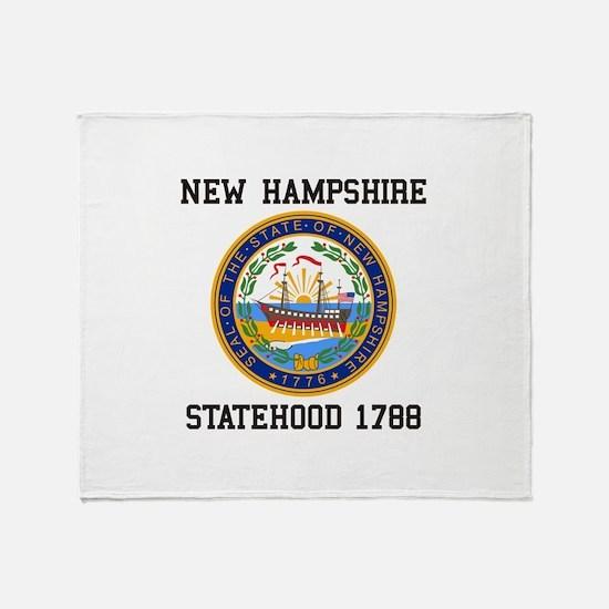 New Hampshire Statehood Throw Blanket