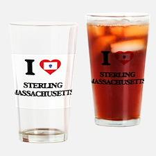 I love Sterling Massachusetts Drinking Glass
