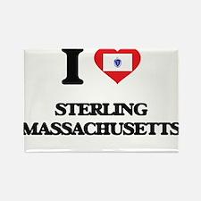 I love Sterling Massachusetts Magnets