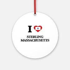 I love Sterling Massachusetts Ornament (Round)