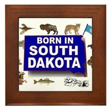 SOUTH DAKOTA BORN Framed Tile