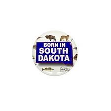 SOUTH DAKOTA BORN Mini Button