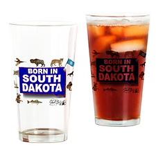SOUTH DAKOTA BORN Drinking Glass