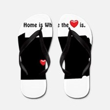 PENNSYLVANIA Home is Where the Heart Is Flip Flops