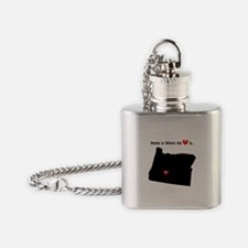 OREGON Home is Where the Heart Is Flask Necklace