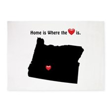 OREGON Home is Where the Heart Is 5'x7'Area Rug