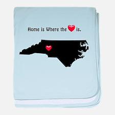 NORTH CAROLINA Home is Where the Hear baby blanket