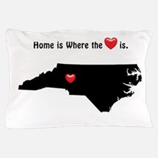 NORTH CAROLINA Home is Where the Heart Pillow Case