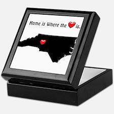 NORTH CAROLINA Home is Where the Hear Keepsake Box