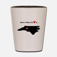 NORTH CAROLINA Home is Where the Heart Shot Glass