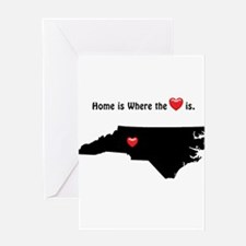 NORTH CAROLINA Home is Where the He Greeting Cards