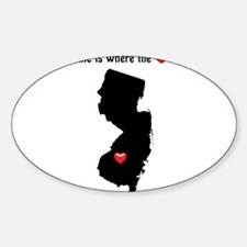 NEW JERSEY Home is Where the Heart Is Decal