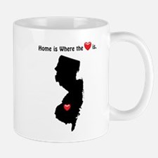 NEW JERSEY Home is Where the Heart Is Mugs