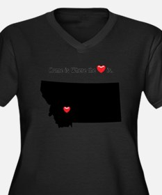 MONTANA Home is Where the Heart Plus Size T-Shirt