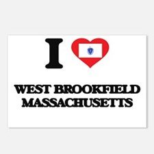 I love West Brookfield Ma Postcards (Package of 8)