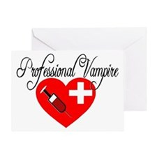 Phlebotomist - Professional Vampire Greeting Card