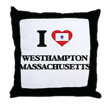 I love Westhampton Massachusetts Throw Pillow