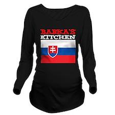 Babkas Kitchen Long Sleeve Maternity T-Shirt