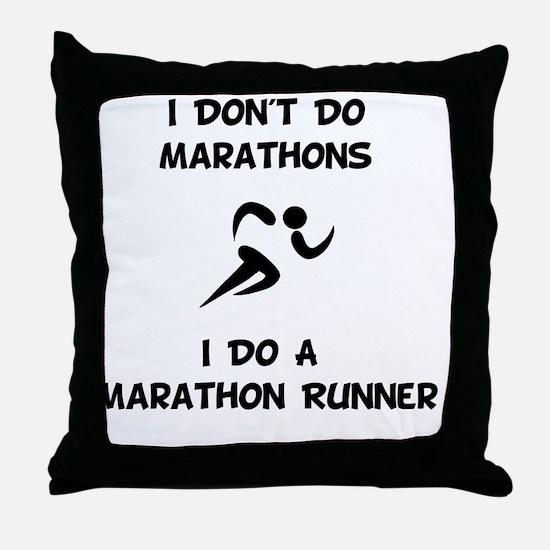 Do A Marathon Runner Throw Pillow